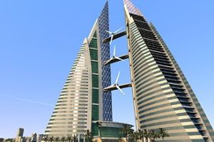 Rascacielos con generadores, Dubai.