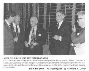 Scharff con algunos generales de la USAF