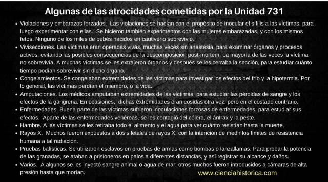 Atrocidades de la Unidad 731