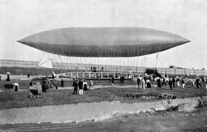 Uno de los dirigibles de Santos-Dumont.