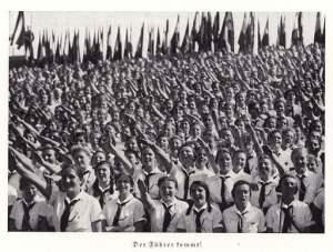 Saludo nazi en Nuremberg