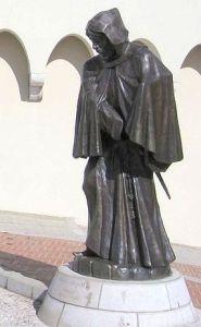 Francesco Grimaldi disfrazado de monje