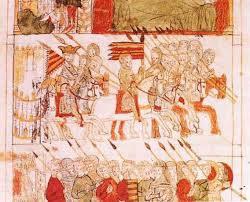 Peregrinos medievales del Camino de Santiago