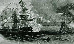 Barcos estadounidenses bombardean Veracruz