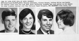Los cuatro estudiantes muertos en Kent State