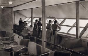 Pasajeros en el mirador del Hindenburg