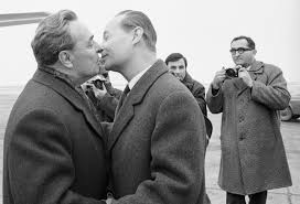 Leonid Brezhnev y Dubcek