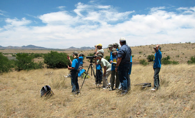 Scoping prairie dogs at Las Cienega National Conservation Area. Photo courtesy BLM.
