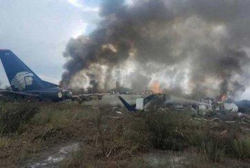 Se accidenta avión de Aeroméxico en Durango