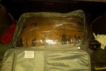 Detienen en Cozumel a sujetos con maleta de presunta droga