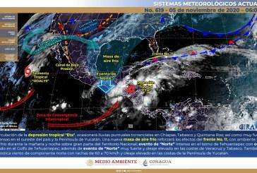 Lluvias puntuales torrenciales en Tabasco, Chiapas y Quintana Roo