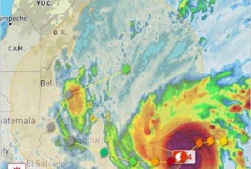ETA alcanza categoría 4, pero podría impactar a Nicaragua en categoría 5