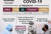 Hazte la prueba del Covid-19. Es gratuita. Horarios: de lunes a viernes de 9 a, a 1 pm.