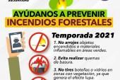Ayúdanos a prevenir incendios forestales