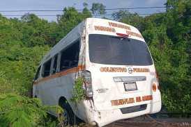 Aparatoso accidente de transporte público deja heridos leves