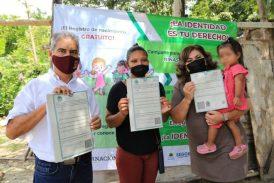 CONTINÚAN EN SOLIDARIDAD JORNADAS DE ACTAS EXTEMPORÁNEAS A MENORES DE 5 AÑOS