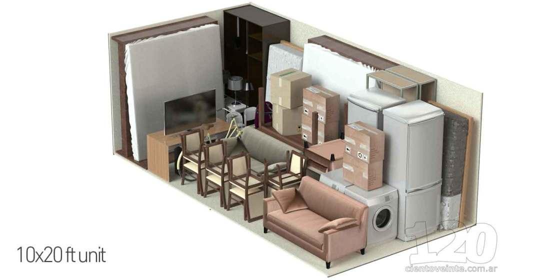 Storage units 10x20 3D CAD render