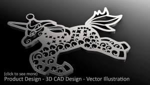 Jewellery design with Dollie Jewellery in the UK. Unicorn Charm