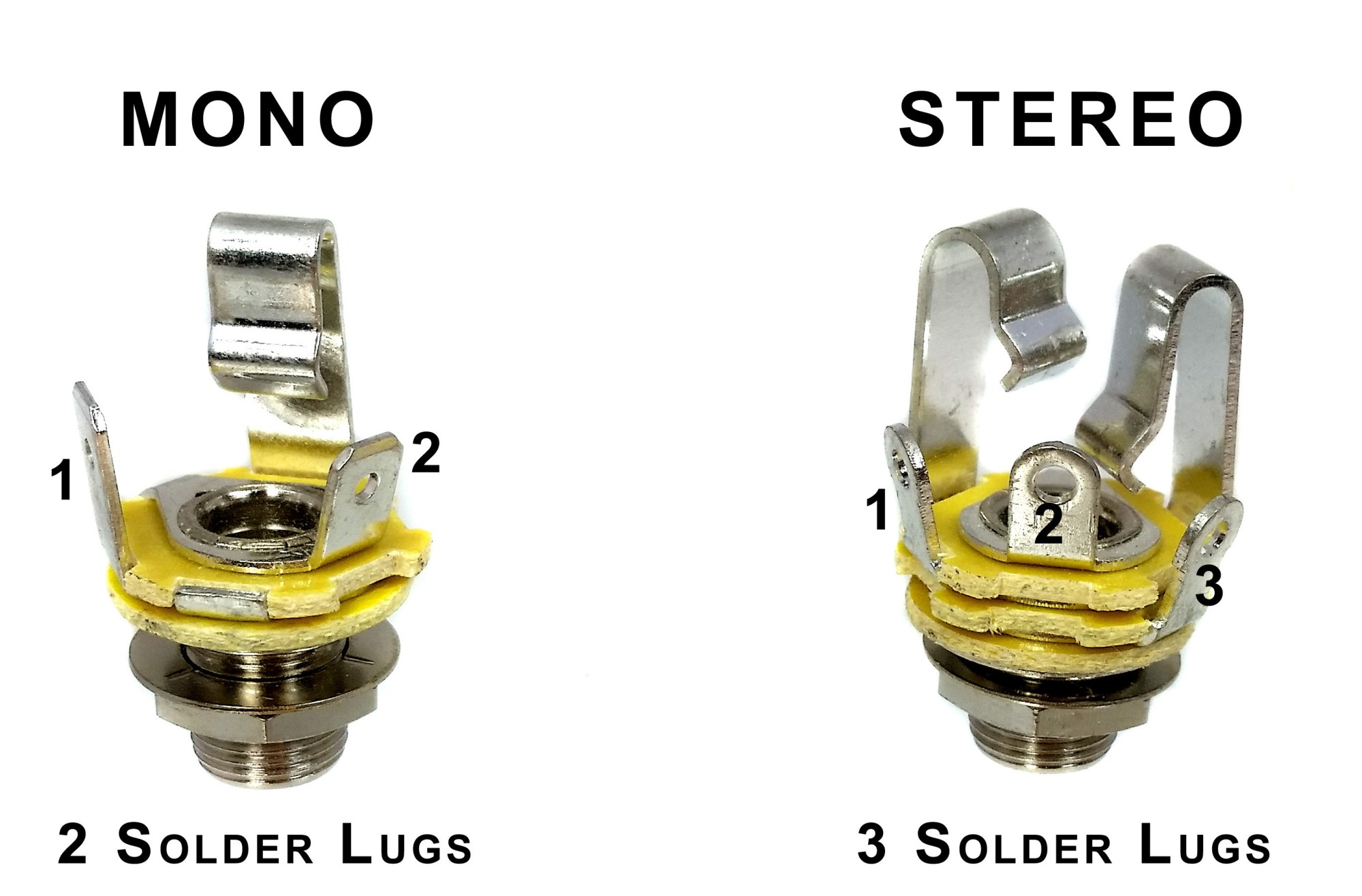 hight resolution of the differences between mono and stereo phone jacks