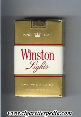 Winston Lights gold and white KS20S  USA  Cigarettes