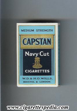 Capstan Navy Cut Medium Strength S10H blue and black