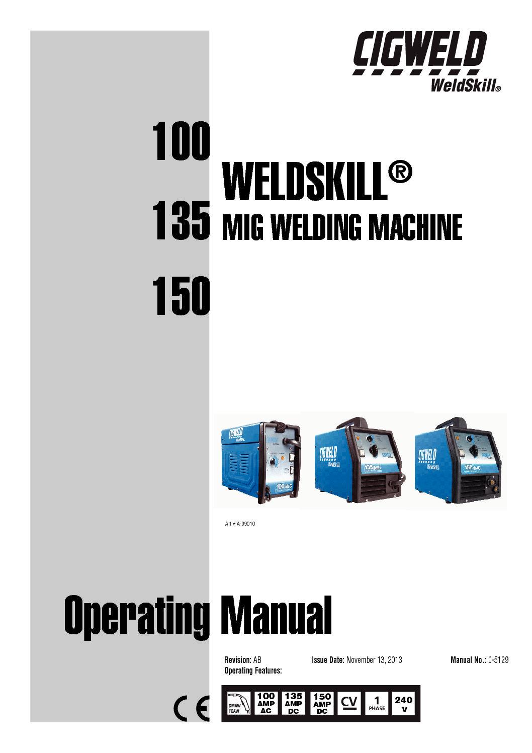 hight resolution of weldskill 100 135 150 mig operating manual