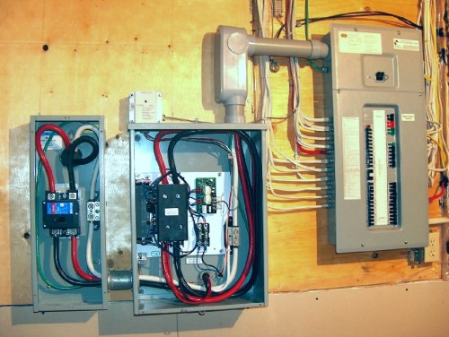 small resolution of here is the completed transfer switch installation