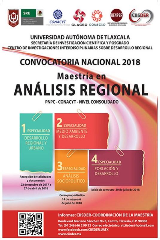 ciisder convocatoria nacional 2018 maestria en analisis regional