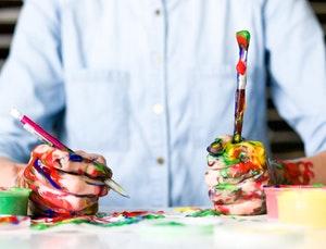 surviving graphic design school: hands of an artist