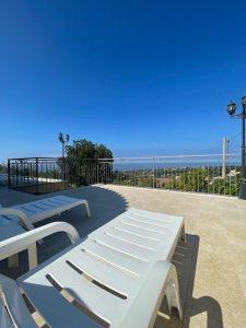 Terrasse mit Meerblick Ferienhaus Kampanien