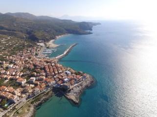 Blick auf Marina di Camerota