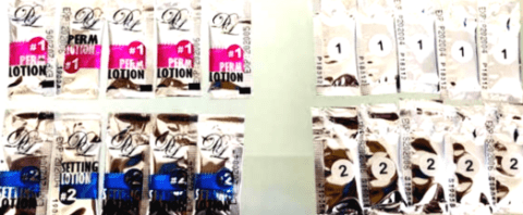 sachets 10 - 5 of each white lotions