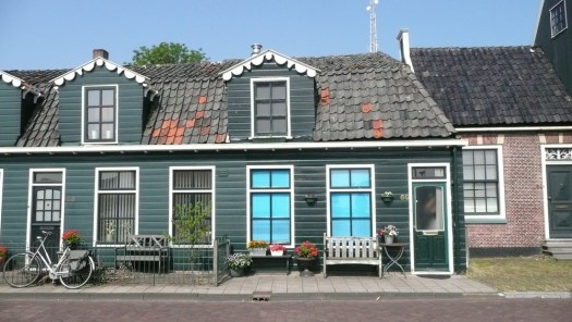 Green house on the Zaan, Netherlands