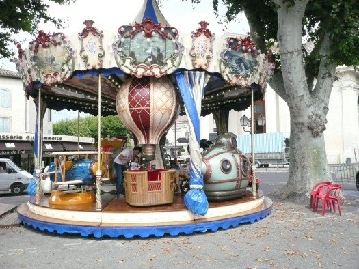 Jules Verne Merry-go-round St Remy, France
