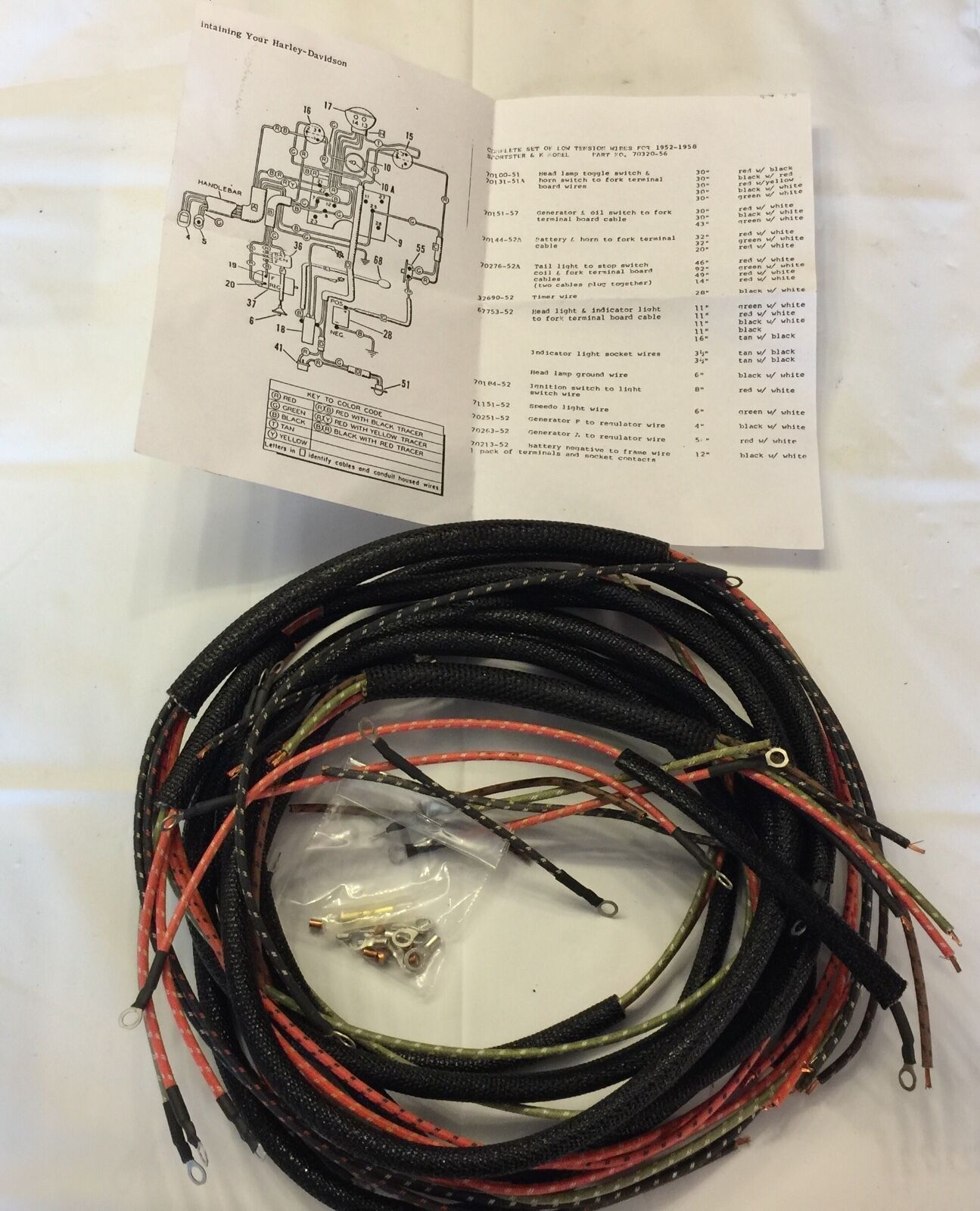 hight resolution of harley 7032056 sportster xl xlh wiring harness kit 195758 free usa shipping