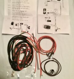 harley 473536 193637 knucklehead ul w wiring harness kit w wired switches usa [ 1292 x 1599 Pixel ]