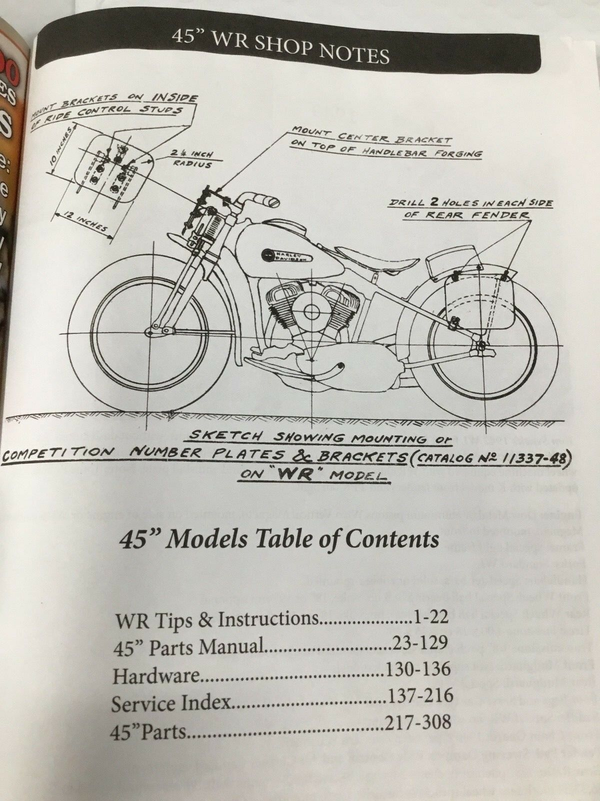 hight resolution of harley wl wr servicar service parts tuning manual 1937up