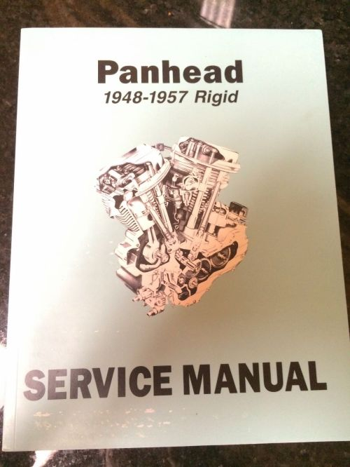 small resolution of  harley el fl flh service manual 1948 to 1957 panhead rigid hydraglide new