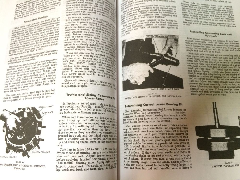 medium resolution of  harley el fl flh service manual 1948 to 1957 panhead rigid hydraglide new