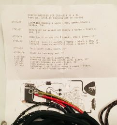 harley 4735 30 1931 36 vl rl vlh wiring harness kit w correct soldered ends usa [ 1222 x 1181 Pixel ]