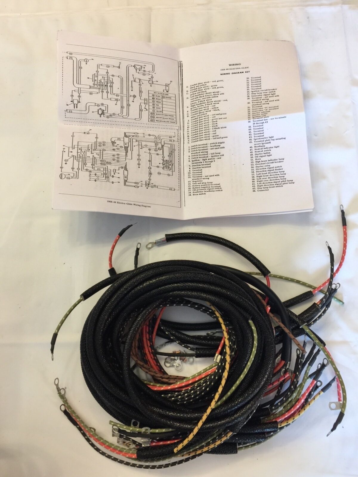 hight resolution of  harley 7032165 electraglide wiring harness kit 196569 free usa shipping