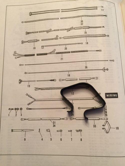 small resolution of  harley 10012 frame head wire loom clip panhead shovelhead servicar 19611984