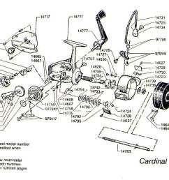mitchell 300 parts list abu garcia cardinal c3 1984 1 exploded view [ 1138 x 848 Pixel ]