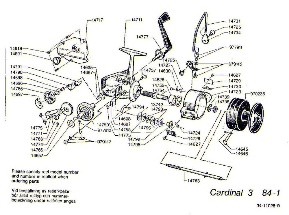 medium resolution of mitchell 300 parts list abu garcia cardinal c3 1984 1 exploded view