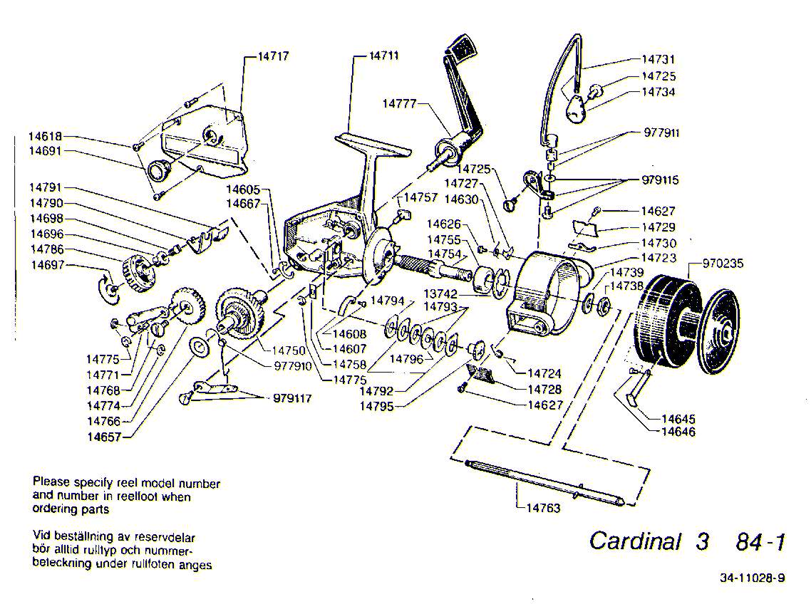 hight resolution of mitchell 300 parts list abu garcia cardinal c3 1984 1 exploded view
