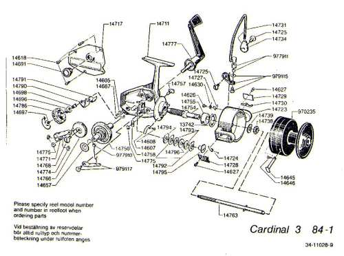 small resolution of mitchell 300 parts list abu garcia cardinal c3 1984 1 exploded view