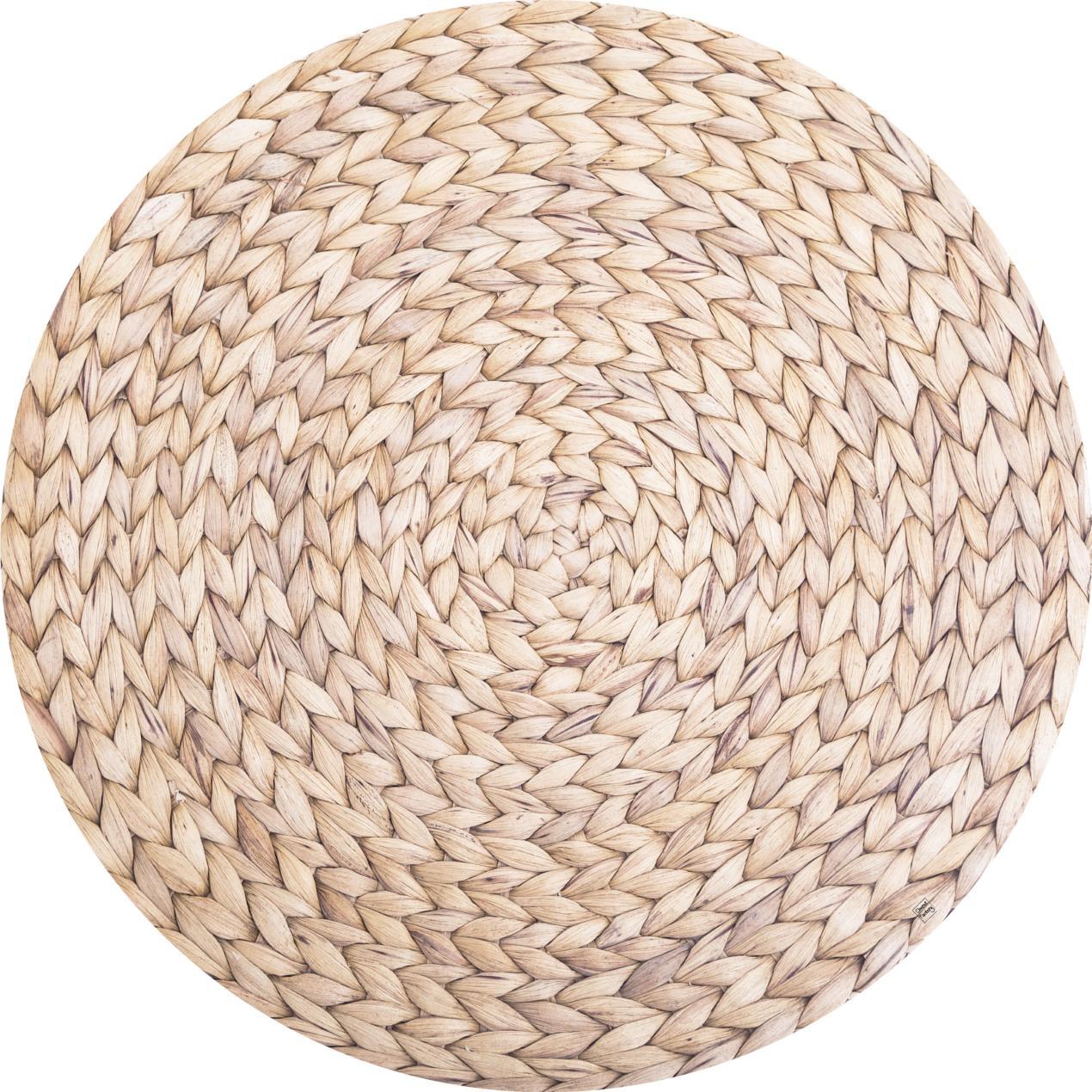 tapis vinyle effet de matiere jute naturelle