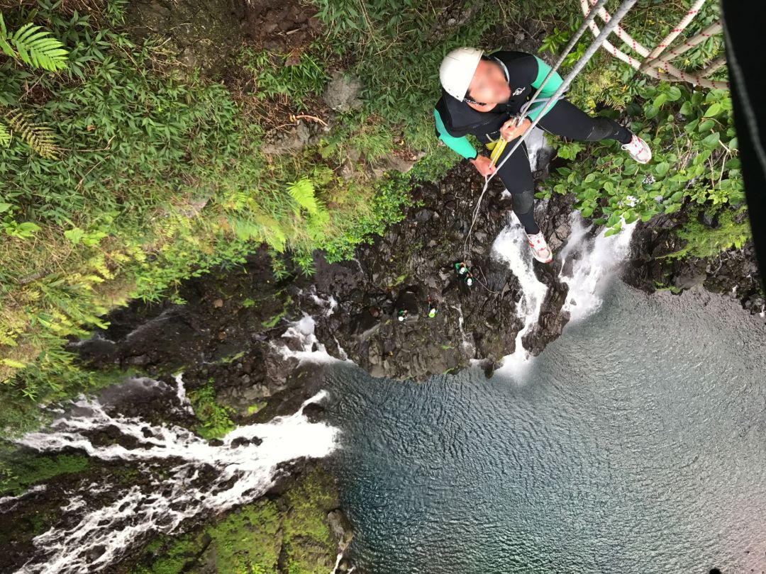 canyoning grand galet rappel