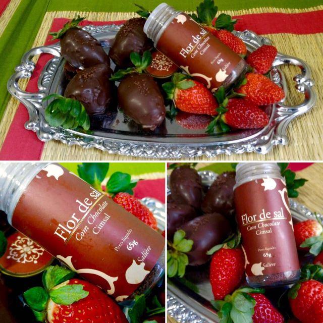 Morango com Flor de Sal com Chocolate