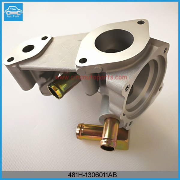 481H 1306011AB调温器座(压铸) - Chery Cross Eastar,Eastar,Fora,M11,M12,Tiggo Thermostat Housing 481H-1306011AB